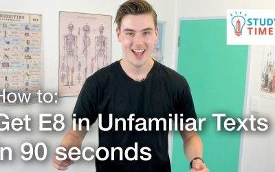 How to GET E8 in NCEA Unfamiliar Texts in 90 Seconds