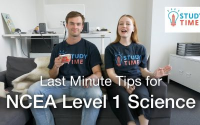 Last Minute Tips for NCEA Level 1 Science