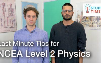 NCEA Level 2 Physics – Last Minute Exam Tips